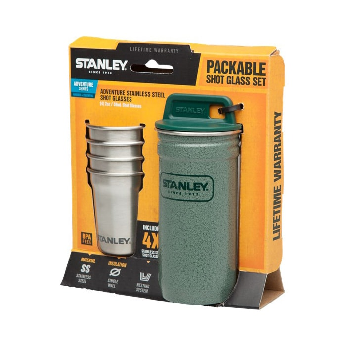 Набор посуды Stanley Adventure 0.59L SS Shot Glass Set Hammertone Green